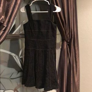 Ann Taylor Black Dress Lace 0